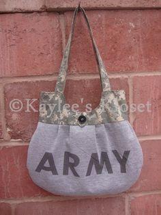 Army PT shirt and ACU trim