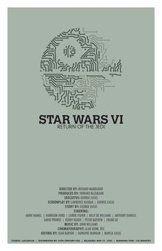 Star Wars Episode VI Return Of The Jedi poster by balancedpersonality #Star_Wars