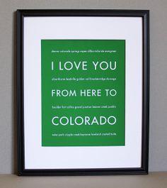 For the Colorado Native!!