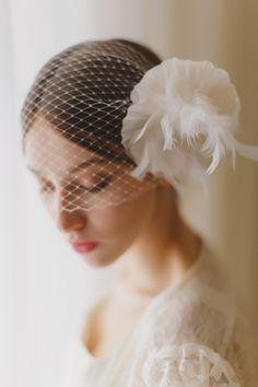 Glamorous birdcage veil | Warmphoto Photography
