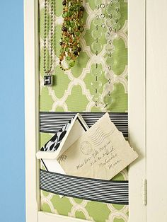 Use an old cabinet door.