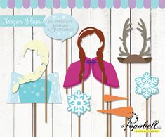 Frozen Props for Frozen Birthday Party. Instant by Popobell, $7.00