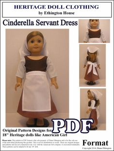Cinderella Servant Dress Apron and Scarf PDF by MotherofNine, $4.00