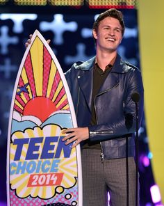 Ansel Elgort wins at the Teen Choice Awards 2014 for Best Actor Drama for THE FAULT IN OUR STARS