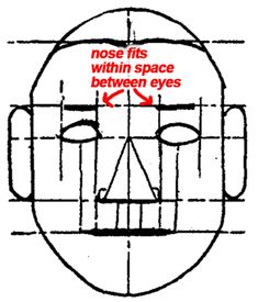 Step 8 proportions of head Drawing Faces & Head in Eyes, Nose, Mouth, Ears Brows : Proportions & Simple Measurements