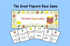 Speech Therapy Ideas: The Great Popcorn Race Game-Speech and Language Game. Pinned by SOS Inc. Resources http://pinterest.com/sostherapy.