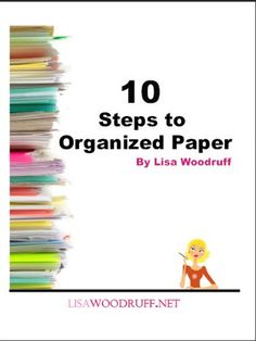 First Steps to Organized Paper- I really like her paper organizer. It's big and portable like a tote. This is a great idea for keeping and transporting my scrapbooking/card making or any other craft stuff!