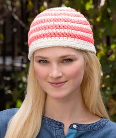 Have a Stripe Hat Crochet Pattern | Red Heart