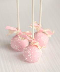 Light Pink Cake Pops. via Etsy.