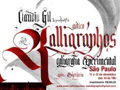 Calligraphy workshop in são paulo - Brasil  with Claudio Gil