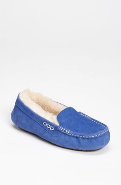 Blue Suede UGG Slippers . . . Yes Please! UGG Australia Ansley Slipper | Nordstrom