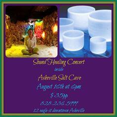 Sound healing concert inside the Salt Cave