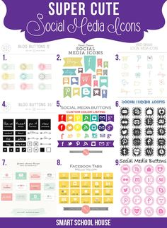 Super Cute Social Media Icons