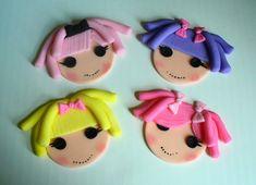 cupcak topper, lalaloopsy cupcake, lalaloopsi cupcak, cupcake toppers, fondant cupcakes