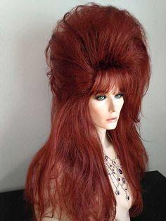 Drag Queen Wig, Pale Blonde, Black, Dark Brown, Medium Brown, Light Brown, Platinum Blonde, Creamy Blonde, Golden Blonde, Fire Red, Light Auburn, Medium Auburn and Red and Blonde Frost