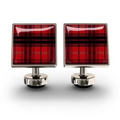 Plaid Red cufflinks-aren't these amazing!