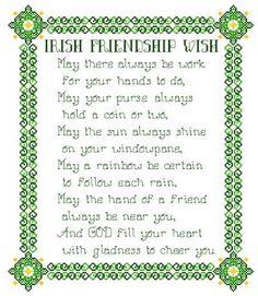 cross stitch samplers antique patterns free   Irish Friendship Wish Cross Stitch Pattern samplers