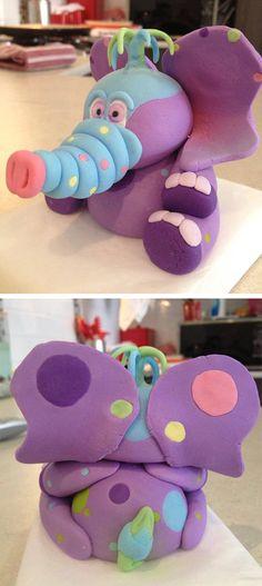 "Super Mom ""Rebecca Barry"" sent us this cute interpretation of Peanut for her cake topper! So adorable!! Love it!!!! #GBbirthday"
