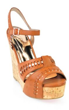Deb Shops open toe cork platform #wedge with #studs