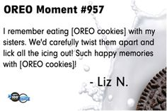 Oreo cookies always bring the family together. #oreomoment