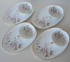 Vintage Noritake China Luise Snack Plates and by @BlueHouseVintage, $36.00