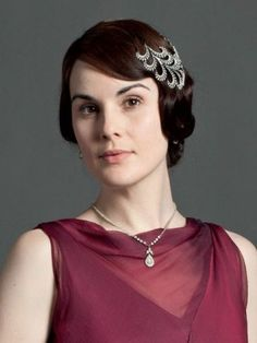 Lady Mary wearing the crystal and diamante necklace that we made especially for her to go with the lovely low backed dress.