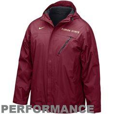 Nike Florida State Seminoles (FSU) Garnet Conference Storm-FIT Full Zip Performance Hoody Jacket