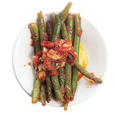 Green Beans and Tomatoes Recipe - Saveur.com