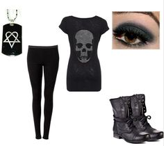 emo fashion, skull, rock outfit, outfit idea, scene fashion, cloth, fashion outfits, rock style, style fashion