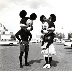 1950s Mickey and Minnie, Disneyland.