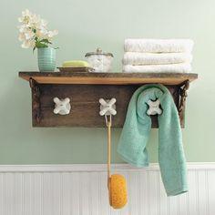 Make this bathroom towel rack with vintage taps (Photo:  Matthew Benson)