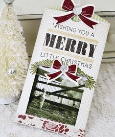 Merry Little Christmas Photo Card by Melissa Phillips for Papertrey Ink (September 2013)