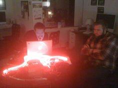 LEDs for NHRA.   Kind of looks like the Doritos logo...