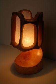 lamps, night lights, waldorf, woodwork, crochet panel