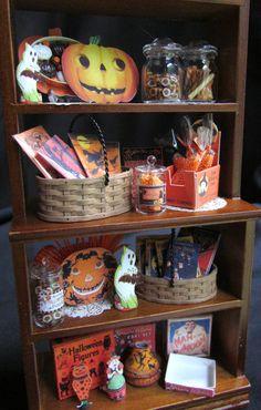 Vintage Halloween Miniature Dollhouse by GoddessofChocolate, $89.00