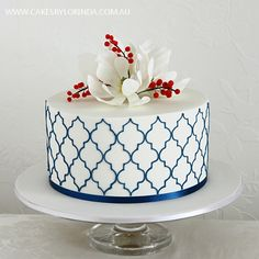 Stencil cake