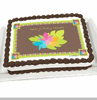 Luau - Personalized Baby Shower Cake Image Topper