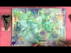 Aquamarkers art journal pages Jane Davenport - YouTube