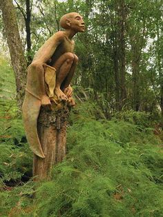 In the forest near Marysville (95 km from Melbourne, Australia) The work of 25-year-old sculptor Bruno Torfs. Bruno's Art & Sculpture Garden is opened to the public.