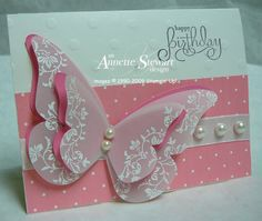 Beautiful Embossed Butterfly Card...