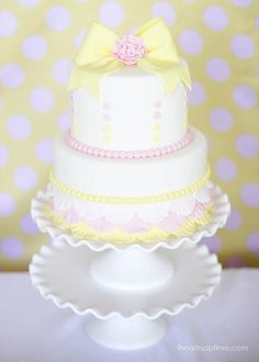 Gorgeous pink and yellow cake
