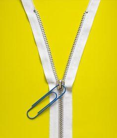 Paper clip as zipper pull