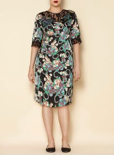 Swan By Clements Ribeiro Floral Print Wisteria 21 Dress
