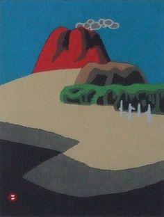 畦地梅太郎「浅間山」 畦地梅太郎「浅間山」畦地梅太郎「火の山と山男」(1973) faceboo