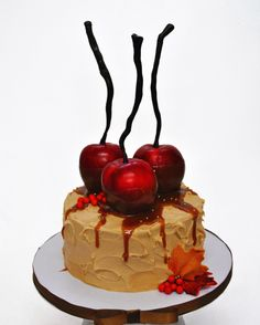 One tier fall cake #