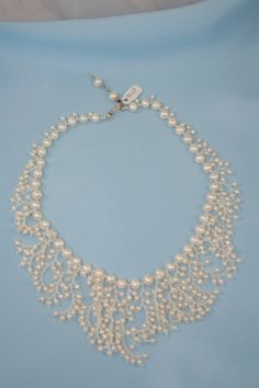 fresh water pearls necklace white by IndividualExpression on Etsy, $150.00