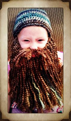Duck Dynasty Crochet Hat & Beard PATTERN PDF by meandmorningglory