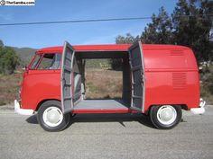 Volkswagen double door panel bus 1960