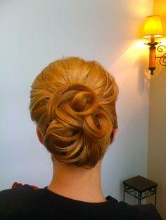 Possible bridesmaid hair.