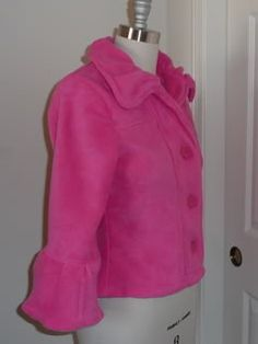 Pink fleece jacket #sewing #fleece #jacket #fashion